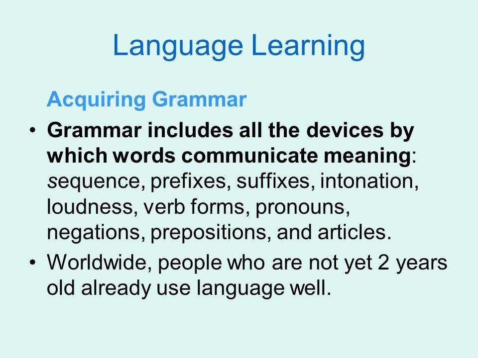 Language Learning Acquiring Grammar