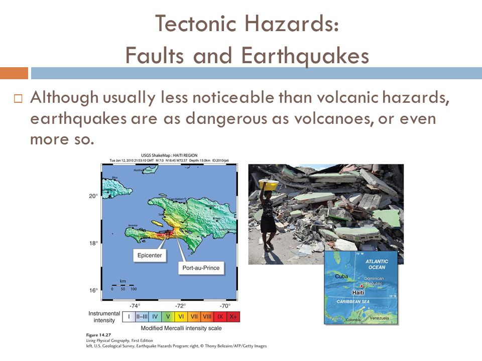 Tectonic Hazards: Faults and Earthquakes