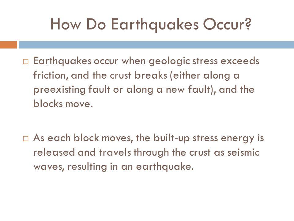 How Do Earthquakes Occur