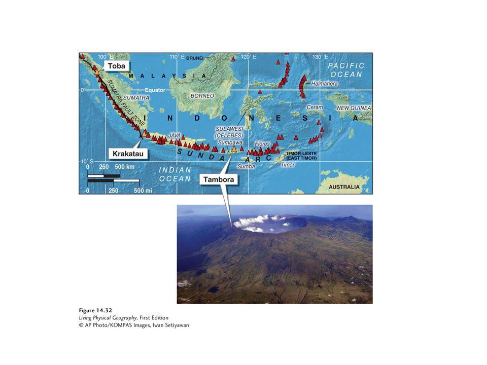 Sunda Arc volcanoes.