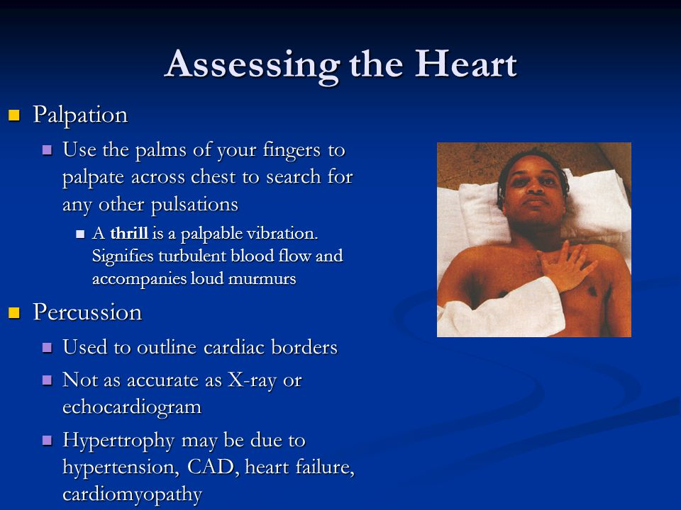 Assessing the Heart Palpation Percussion