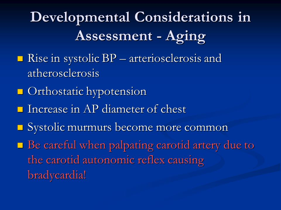 Developmental Considerations in Assessment - Aging