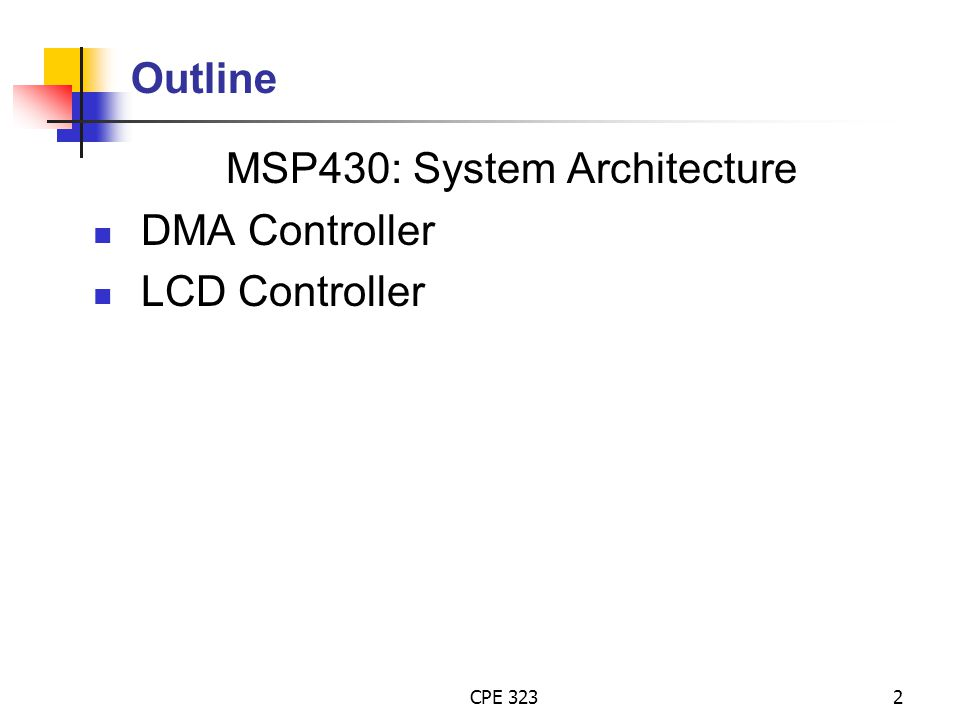 MSP430: System Architecture