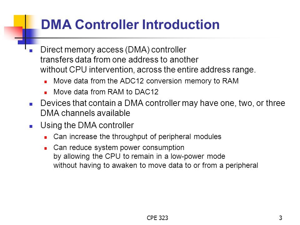 DMA Controller Introduction