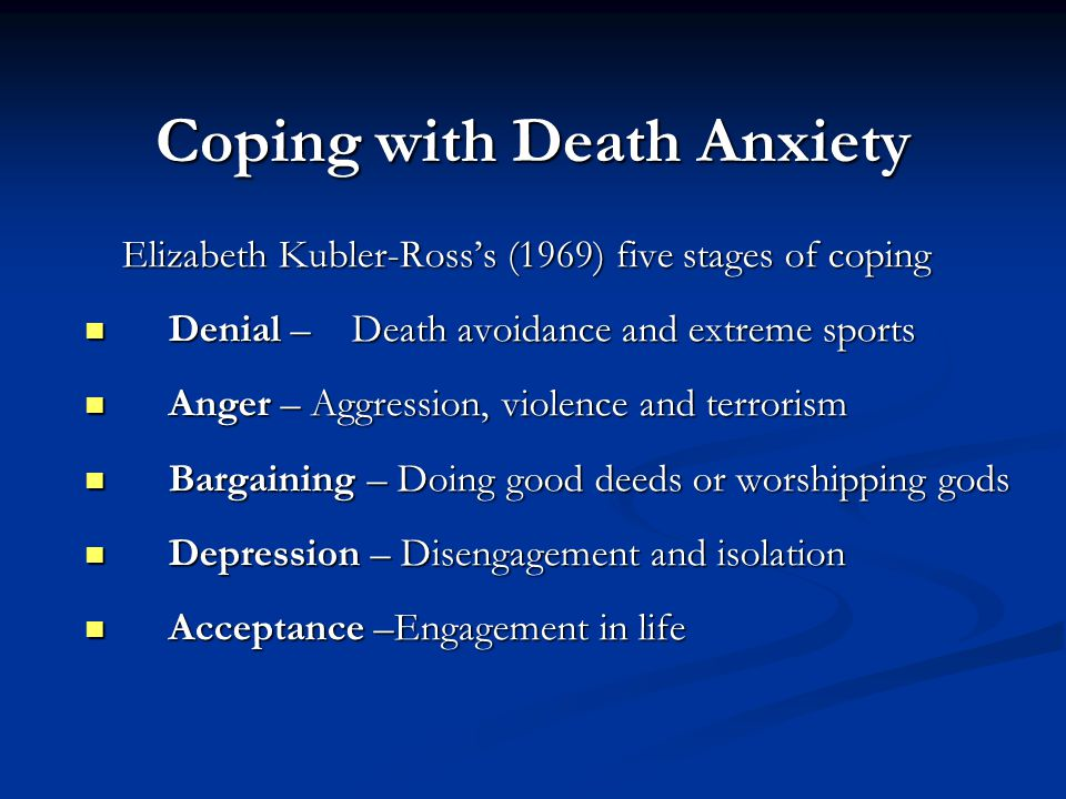 Coping with Death Anxiety