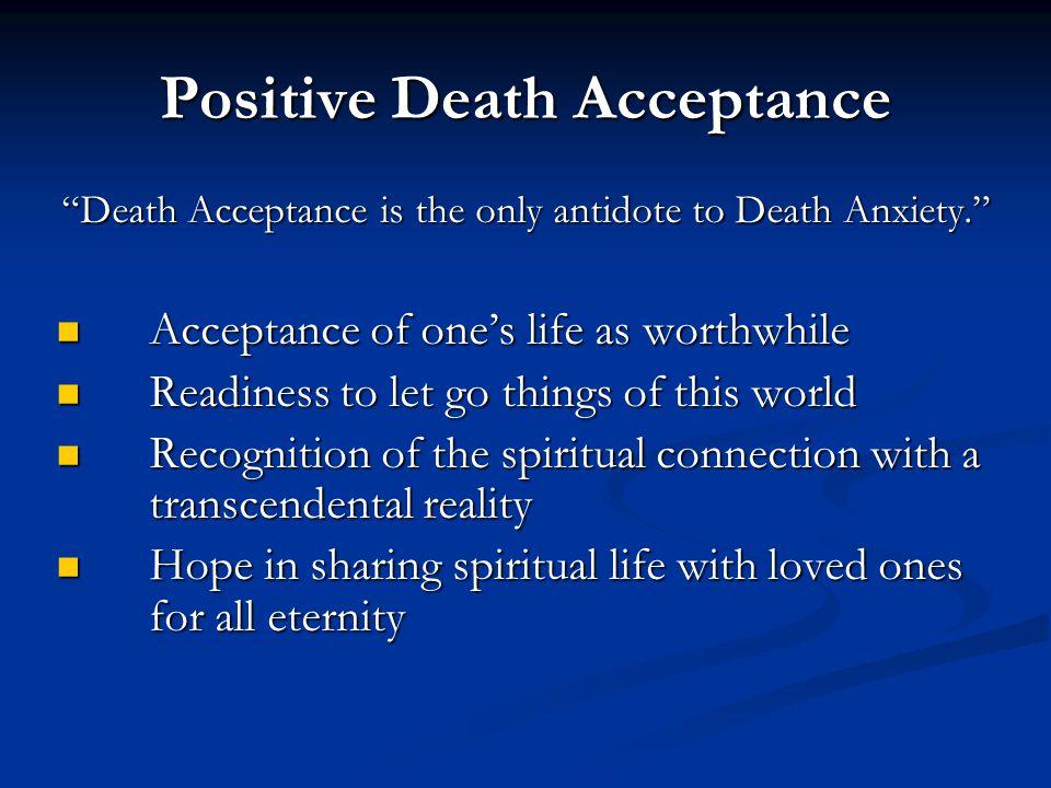 Positive Death Acceptance
