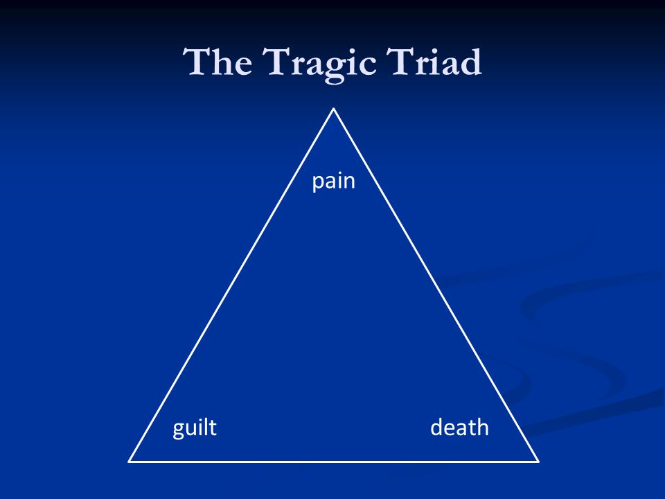 The Tragic Triad death pain guilt