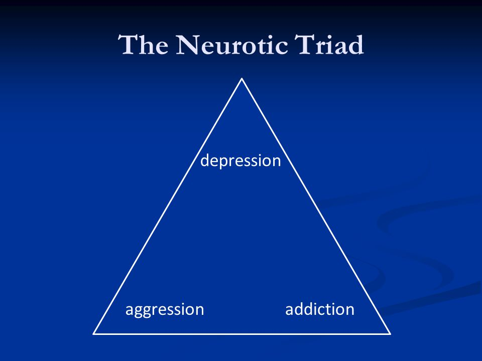 The Neurotic Triad addiction depression aggression