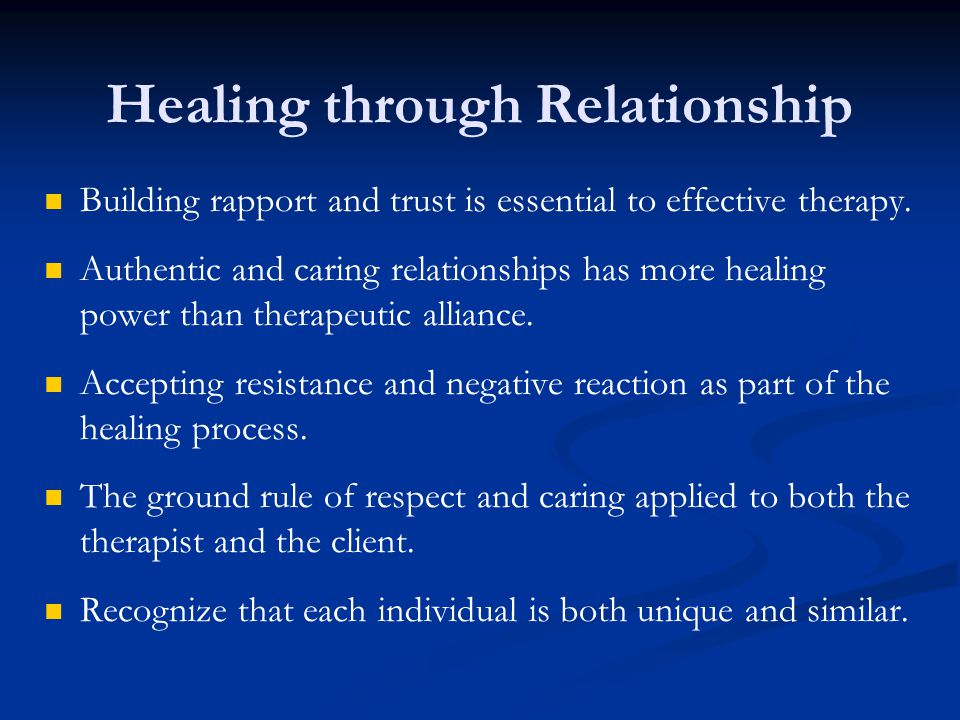 Healing through Relationship