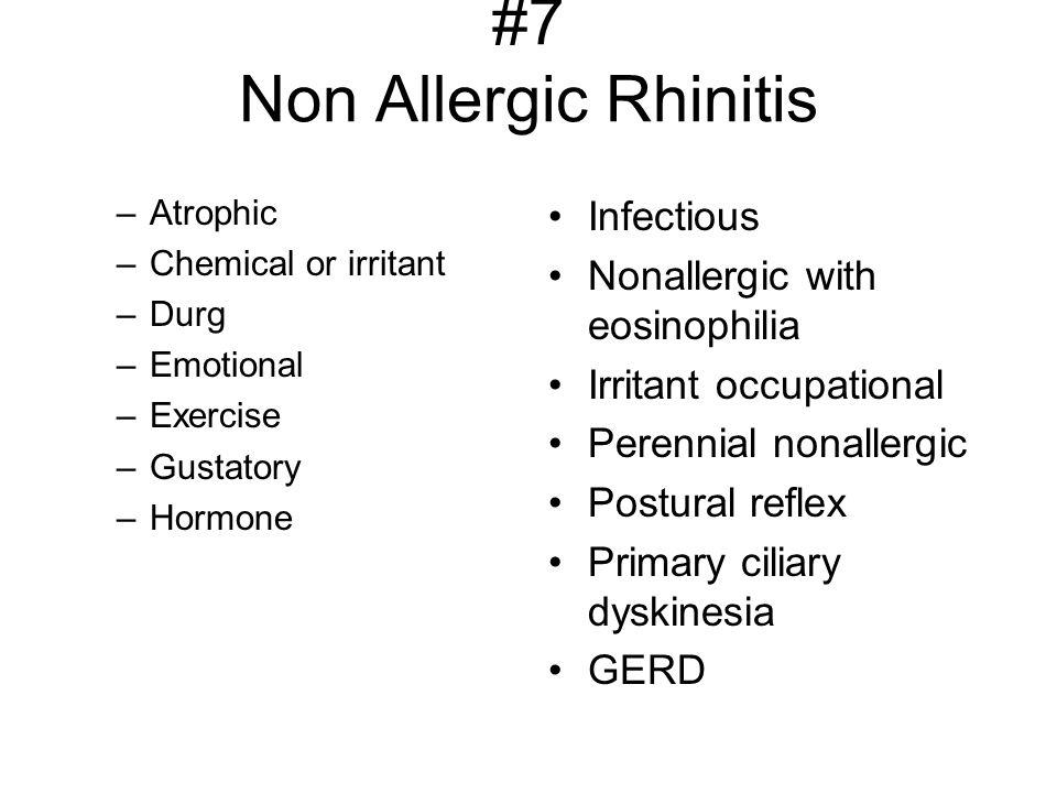 #7 Non Allergic Rhinitis
