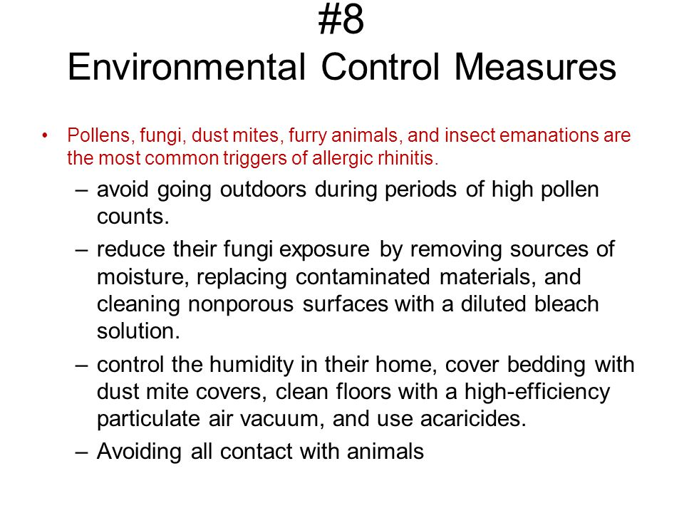 #8 Environmental Control Measures