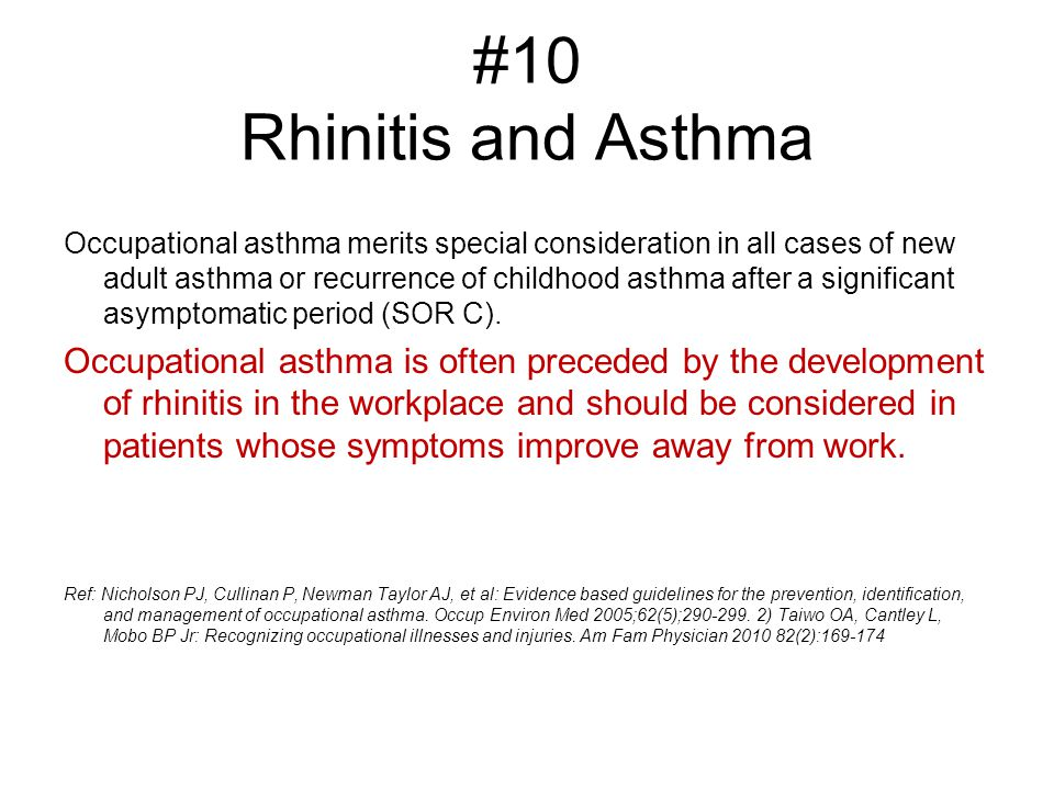 #10 Rhinitis and Asthma