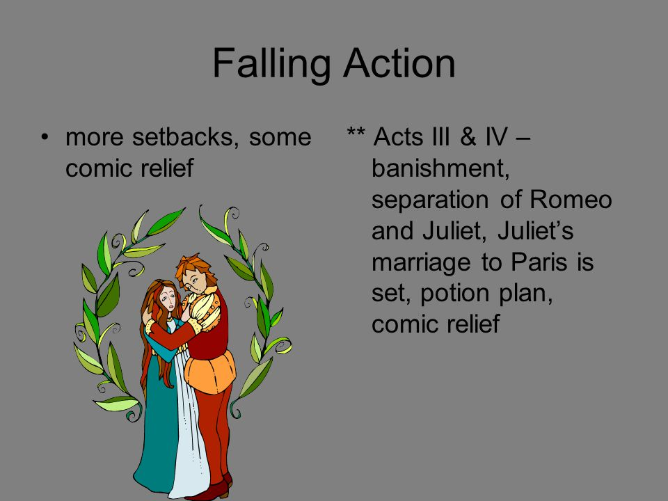 Falling Action more setbacks, some comic relief