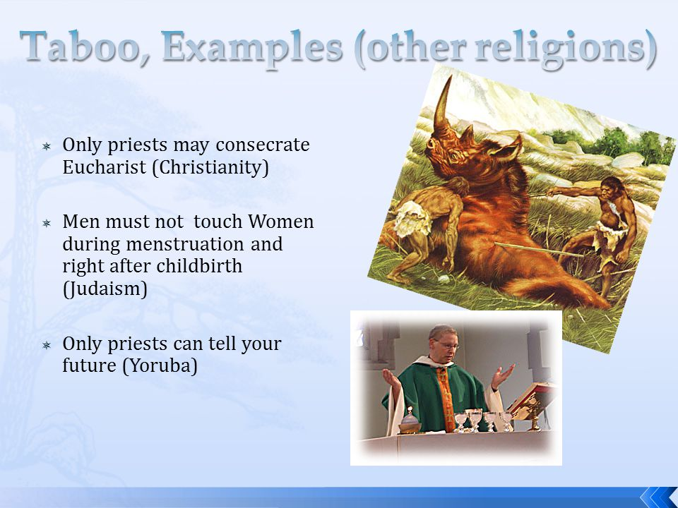 Taboo, Examples (other religions)