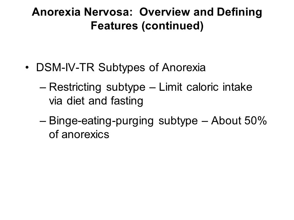 Treatment for anorexia nervosa