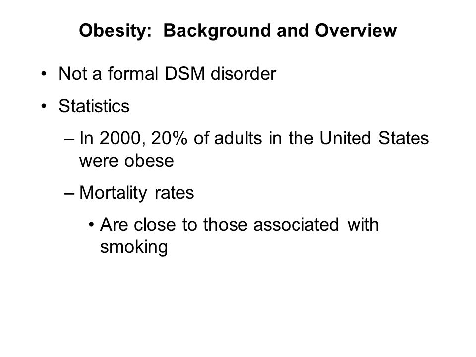 Obesity: Background and Overview