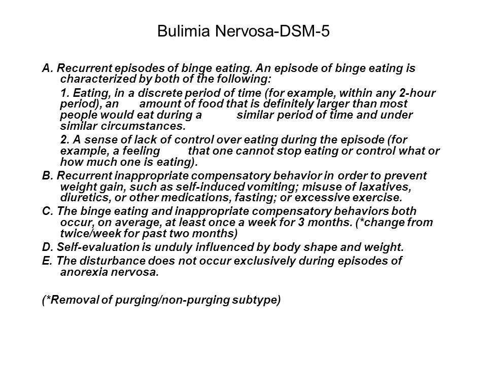 Bulimia Nervosa-DSM-5