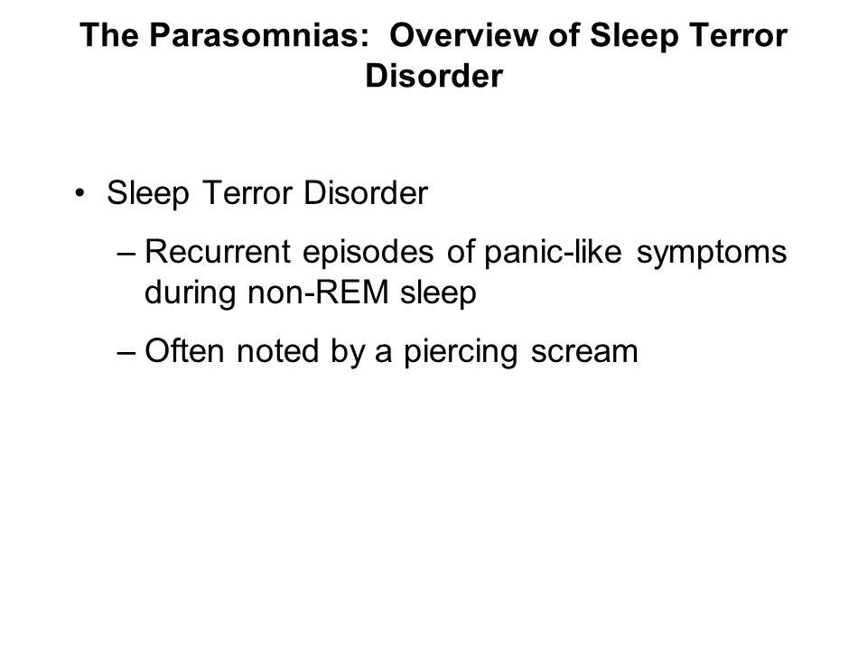 The Parasomnias: Overview of Sleep Terror Disorder