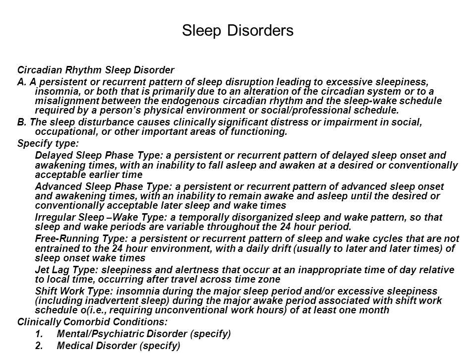 Sleep Disorders Circadian Rhythm Sleep Disorder
