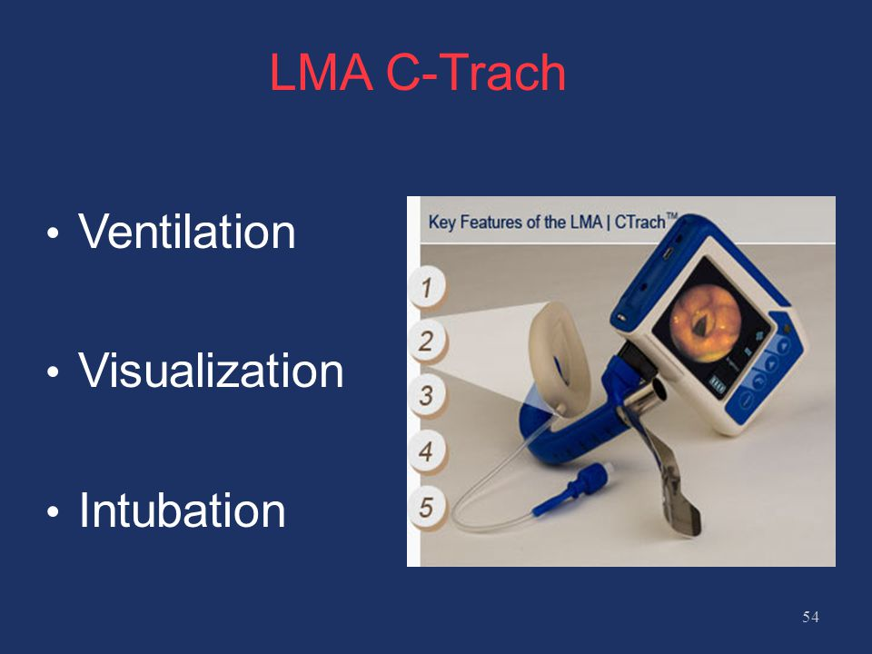 LMA C-Trach Ventilation Visualization Intubation