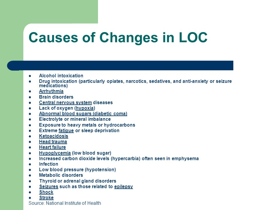 Causes of Changes in LOC