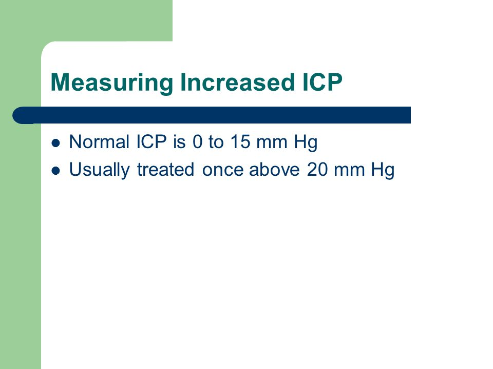 Measuring Increased ICP