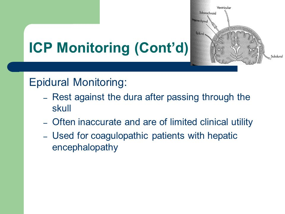 ICP Monitoring (Cont'd)