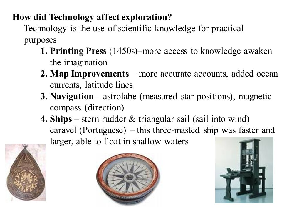How did Technology affect exploration