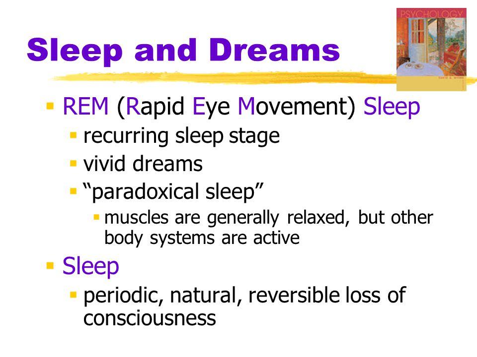 Sleep and Dreams REM (Rapid Eye Movement) Sleep Sleep