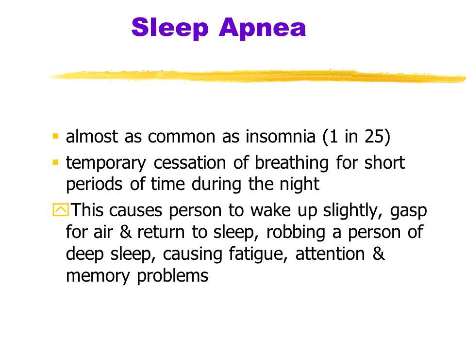 Sleep Apnea almost as common as insomnia (1 in 25)
