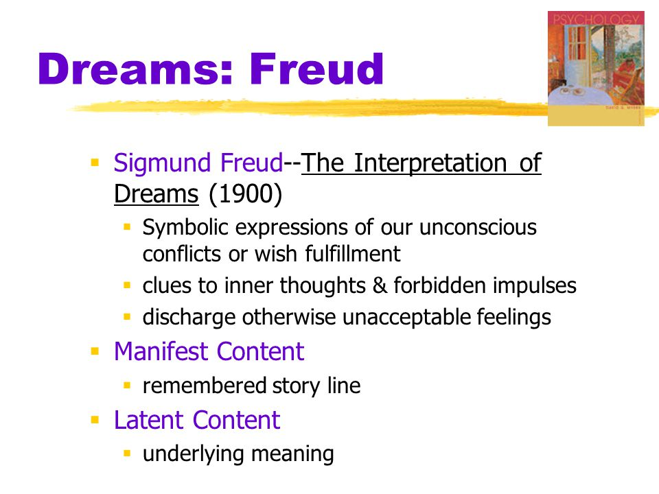 Dreams: Freud Sigmund Freud--The Interpretation of Dreams (1900)