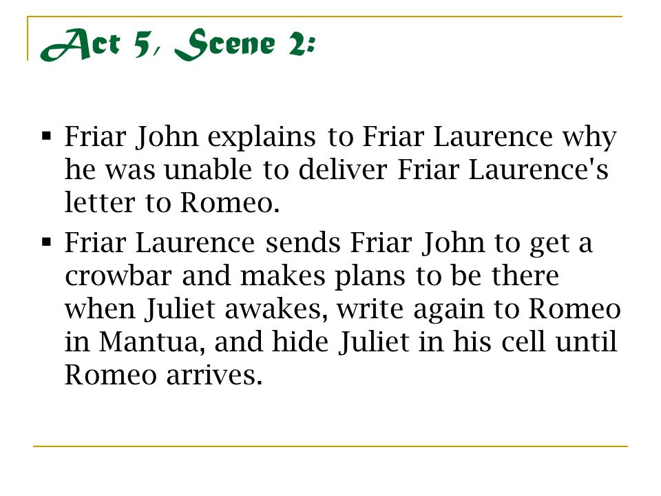 importance of friar laurence romeo and Role in the play friar laurence is a friar who plays the part of a wise advisor to romeo and juliet, along with aiding in major plot developments.