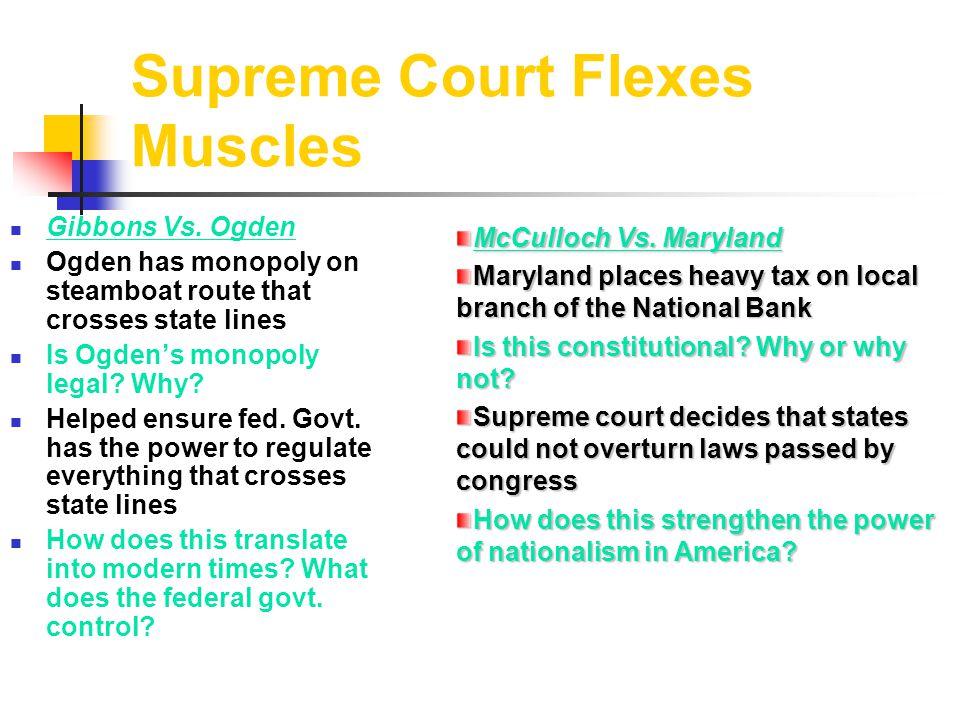 Supreme Court Flexes Muscles