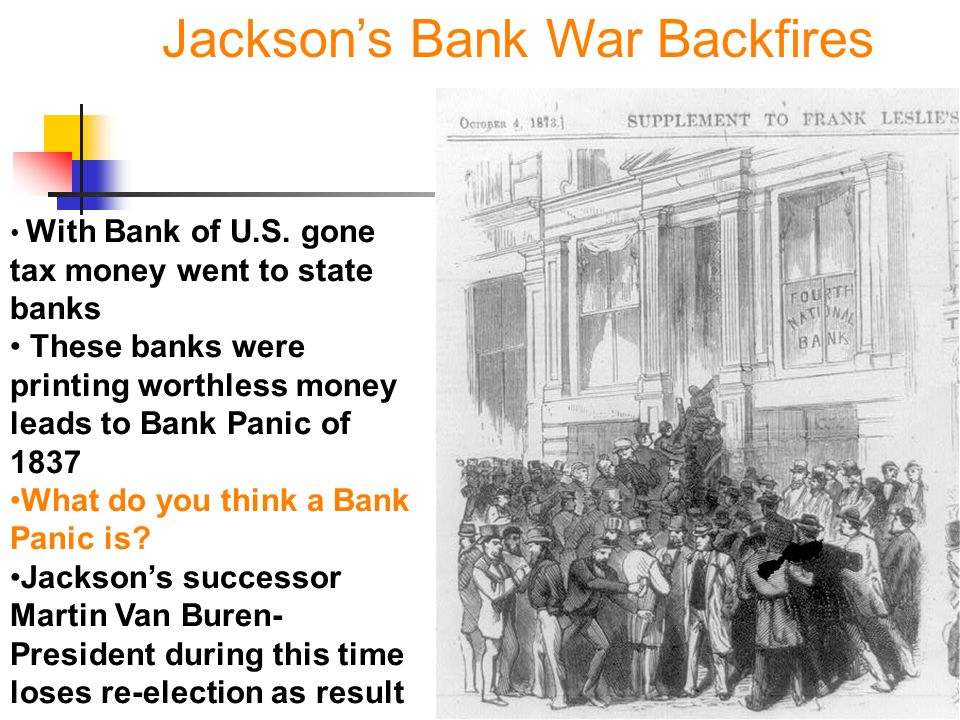 Jackson's Bank War Backfires
