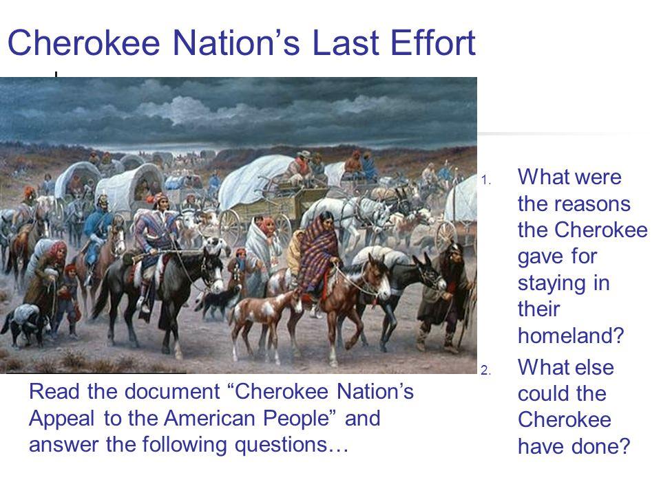 Cherokee Nation's Last Effort