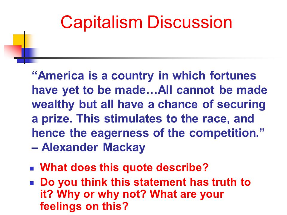 Capitalism Discussion