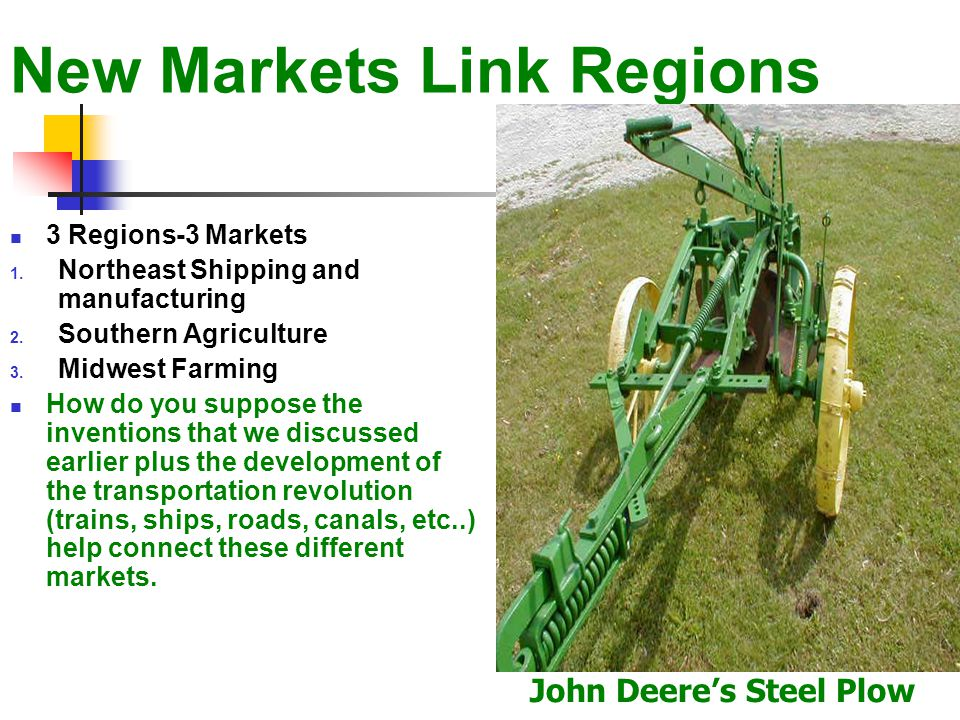 New Markets Link Regions