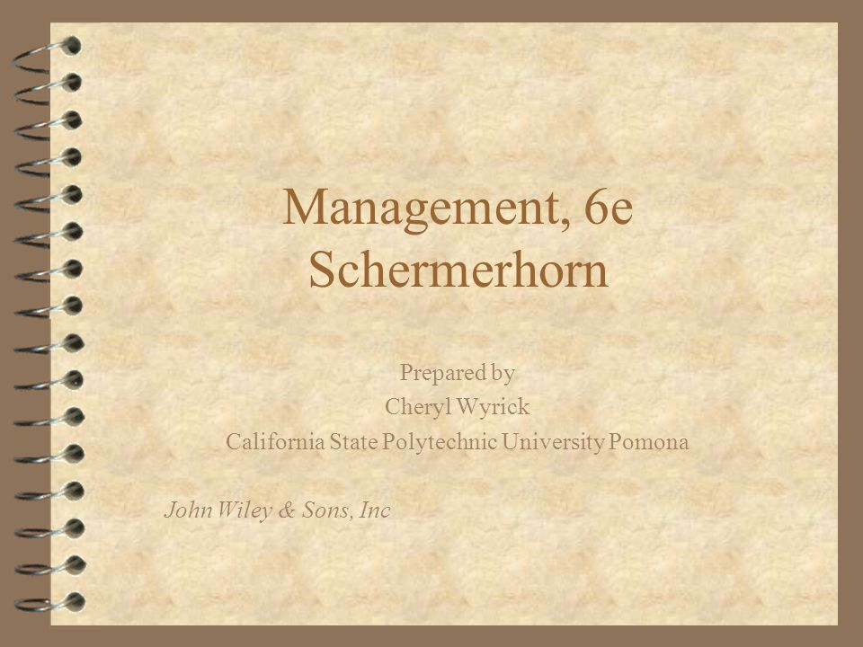 Management, 6e Schermerhorn
