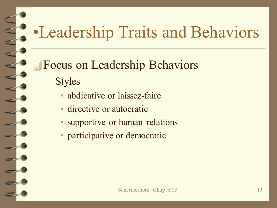 Leadership Traits and Behaviors