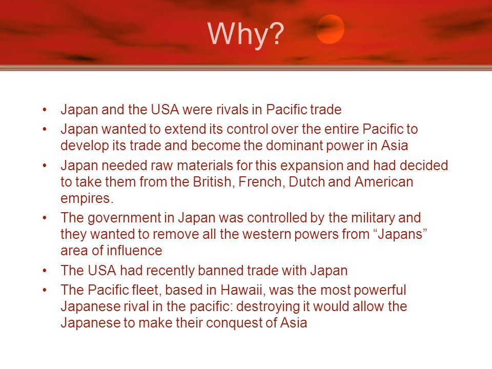 Why Japan and the USA were rivals in Pacific trade