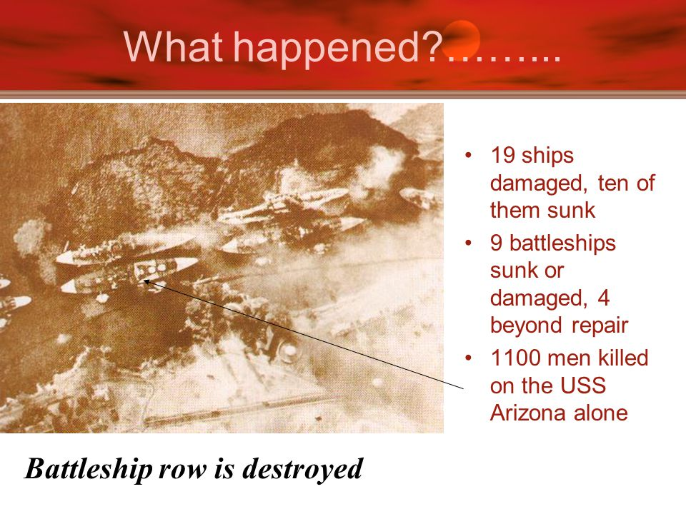 What happened ……... Battleship row is destroyed