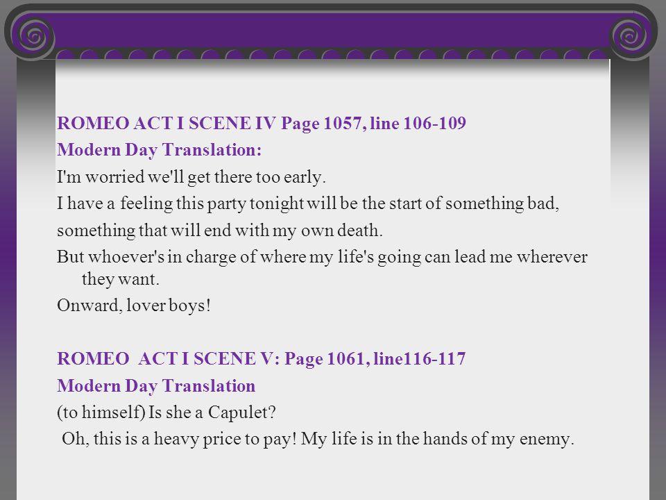 ROMEO ACT I SCENE IV Page 1057, line 106-109