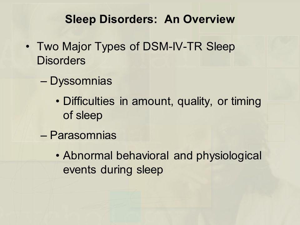 Sleep Disorders: An Overview