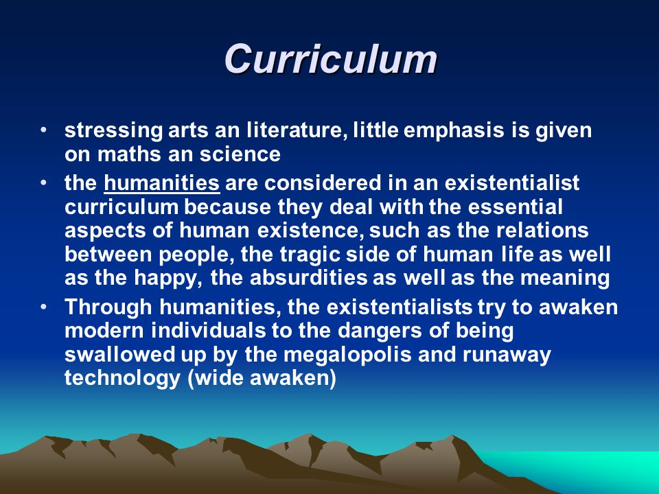 Curriculum stressing arts an literature, little emphasis is given on maths an science.