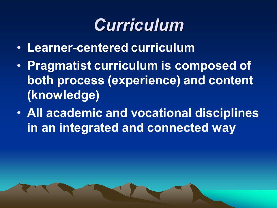 Curriculum Learner-centered curriculum