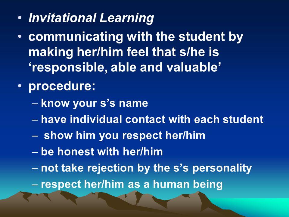 Invitational Learning