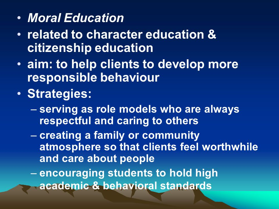 related to character education & citizenship education