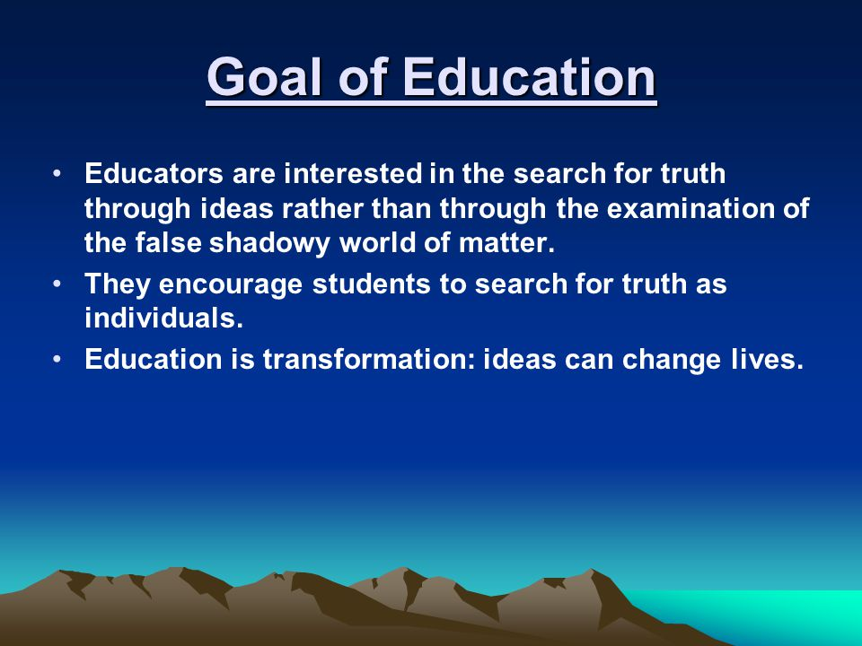 Goal of Education