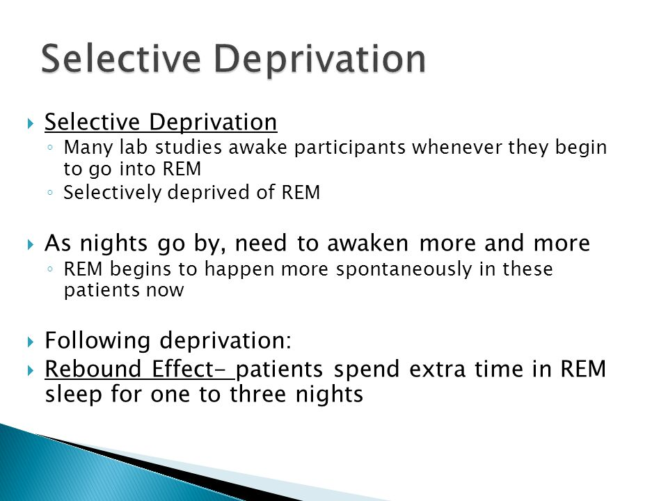 Selective Deprivation