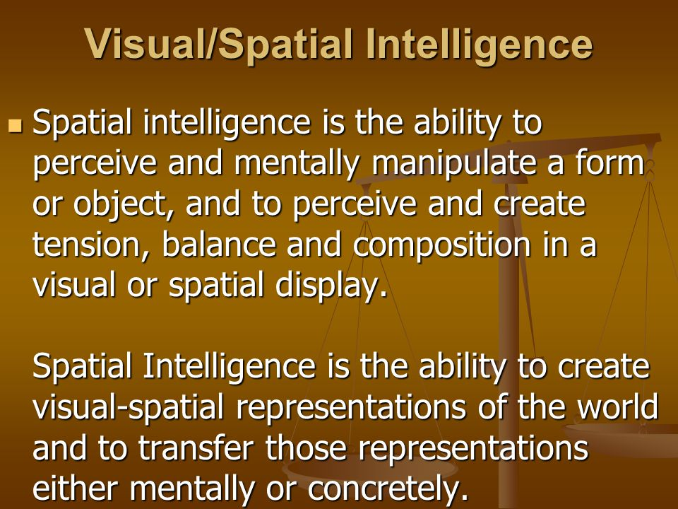 Visual/Spatial Intelligence